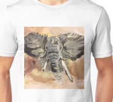 Elephant Art by Max Candy Unisex T-Shirt