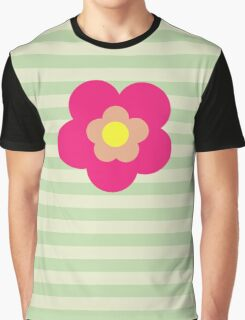Flowers, Blossoms, Blooms, Petals - Pink Yellow  Graphic T-Shirt