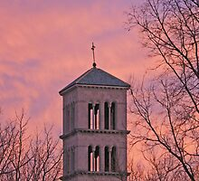 St Joan of Arc Catholic Church at Sunset 1 by indiana9495