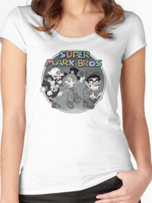 Super Marx Bros  Women's Fitted Scoop T-Shirt