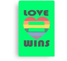Love Wins Equality funny nerd geek geeky Canvas Print