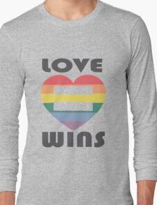 Love Wins Equality funny nerd geek geeky Long Sleeve T-Shirt