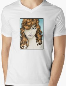 The Intriguing Woman... with Red Hair Mens V-Neck T-Shirt