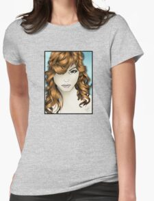 The Intriguing Woman... with Red Hair Womens Fitted T-Shirt