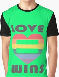 Love Wins Equality funny nerd geek geeky Graphic T-Shirt