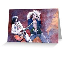 Led Zeppelin Jimi Page and Robert Plant  Greeting Card