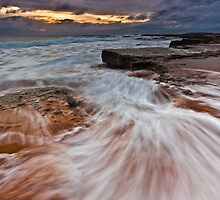 """Breaking Thru"" - Turrimetta Beach by Andrew Kerr"