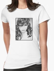 The Intriguing Woman... Noir Style Womens Fitted T-Shirt