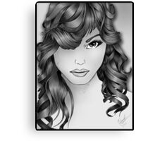 The Intriguing Woman... Noir Style Canvas Print