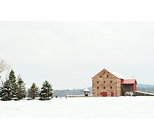 A very unique barn Photographic Print