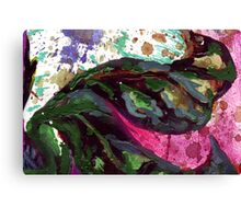 dark green leaves Canvas Print