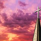 Steeple Cross Sky by Kenneth Keifer