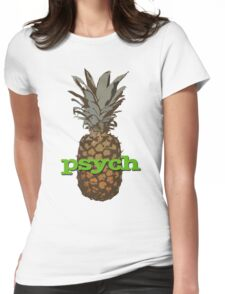 Psych Pineapple Womens Fitted T-Shirt
