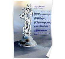 Prayer to St. Christopher Poster