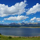 Taylor Park Reservoir with Rocky Mountains by Claudio Del Luongo