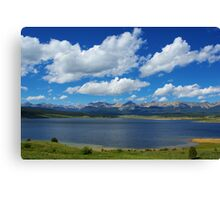 Taylor Park Reservoir with Rocky Mountains Canvas Print