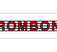 Trombone Red II Sticker