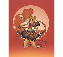 Samurai Moon Photographic Print