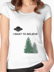 The X Files Women's Fitted Scoop T-Shirt