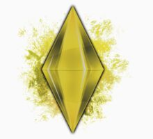 Yellow Plumbbob Grunge  by Tracey Quick