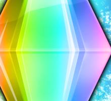 Rainbow Plumbbob Grunge Sticker