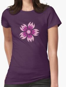 Flowers, Blossoms, Blooms, Petals - Purple Womens Fitted T-Shirt