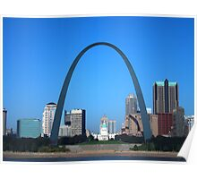 St. Louis Missouri on a bright clear day!  Poster