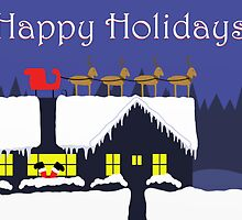 Santa's Slip Greeting Card by peabody00
