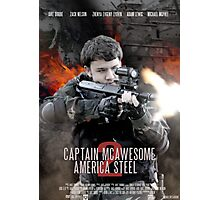 Captain McAwesome America Steel 2 Poster Photographic Print