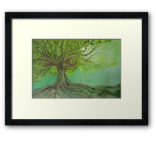 Ancient Tree Hands  Framed Print