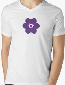 Flowers, Blossoms, Blooms, Petals - Purple Mens V-Neck T-Shirt