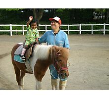 young rider in horse Photographic Print