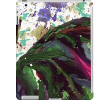 dark green leaves iPad Case/Skin