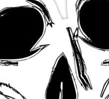 barb wire skull Sticker