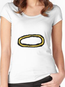 Halo Sticker Women's Fitted Scoop T-Shirt