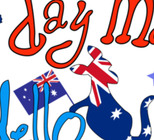 Hello Australia! Good day mate Sticker