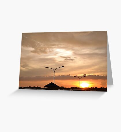 Sunsetting Greeting Card