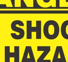 Danger Shock Hazard Sticker