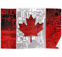 circuit board Canada (Flag) Poster