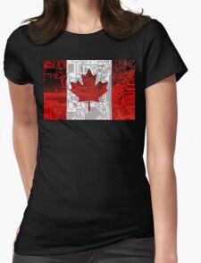 circuit board Canada (Flag) Womens Fitted T-Shirt