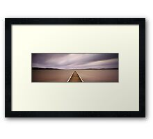 Warners Bay Jetty Framed Print