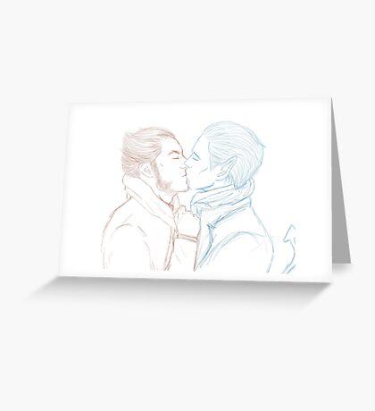 Logan and Kurt Greeting Card