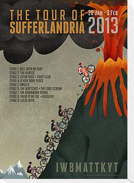 Official Tour of Sufferlandria Artwork by Grunter Von Agony