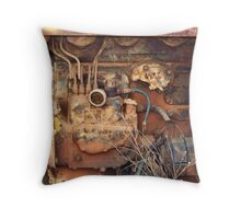 Rusty Farm Tractor Motor Throw Pillow