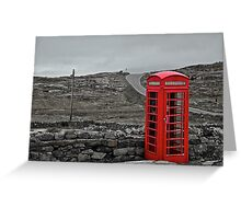 Red Phone Box.  Greeting Card