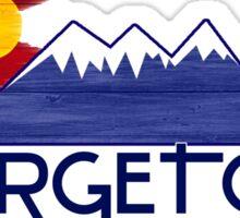 Georgetown Colorado wood mountains Sticker