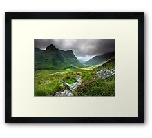 Scotland: Glencoe Valley Summer Framed Print