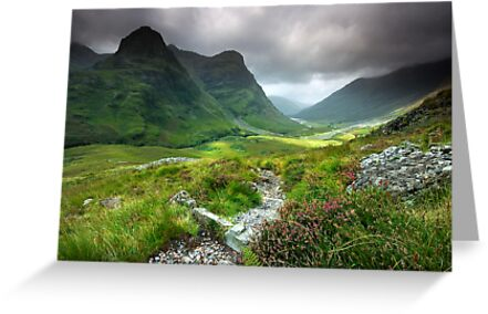 Scotland: Glencoe Valley Summer by Angie Latham