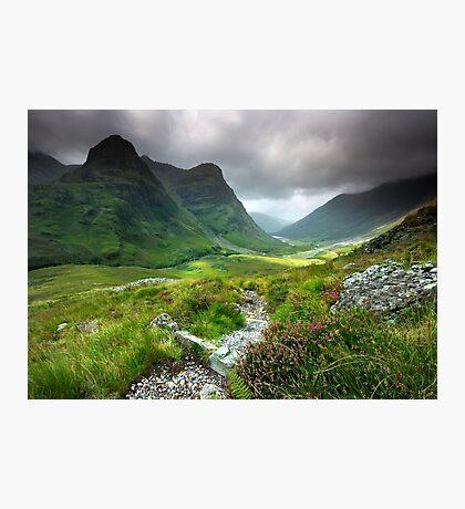 Scotland: Glencoe Valley Summer Photographic Print