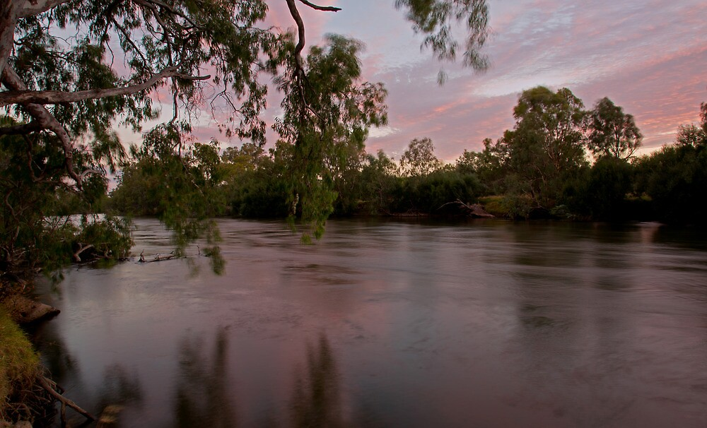 Sunset on the Murray River by Cameron B